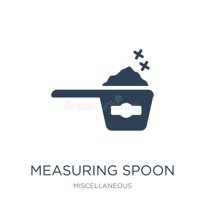 icono de la cuchara dosificadora en estilo de moda del diseño icono de la cuchara dosificadora aislado en el fondo blanco icono d stock de ilustración