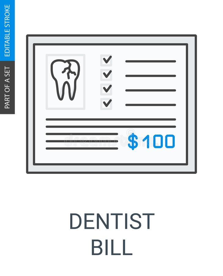 Icono de la cuenta del dentista stock de ilustración