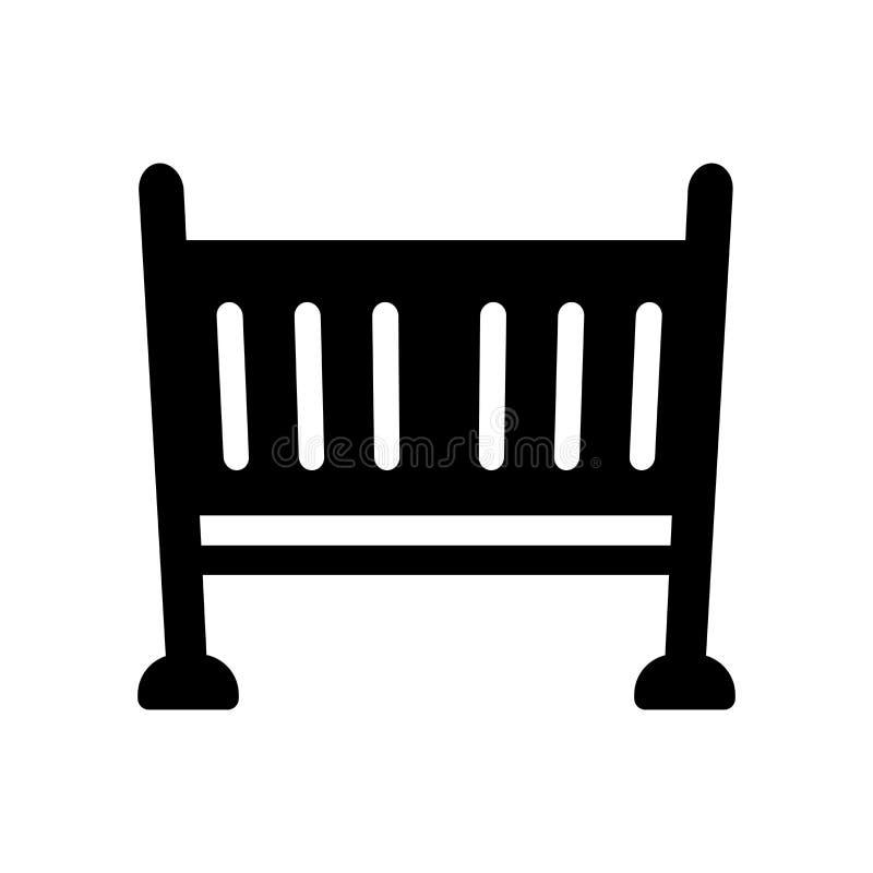 Icono de la cuna  stock de ilustración