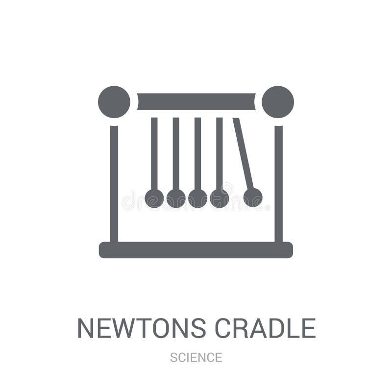 Icono de la cuna de los neutonios  stock de ilustración