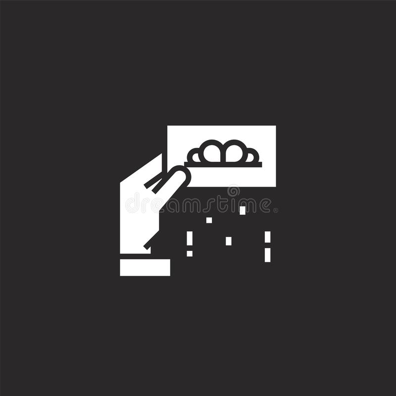Icono de la cup?n Icono llenado del vale para el diseño y el móvil, desarrollo de la página web del app icono del vale de la cole libre illustration