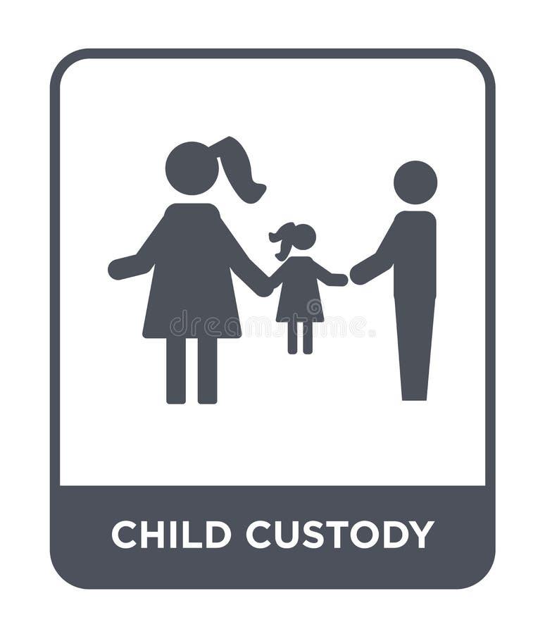 icono de la custodia de los hijos en estilo de moda del diseño icono de la custodia de los hijos aislado en el fondo blanco icono ilustración del vector