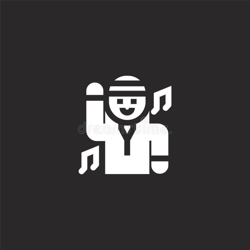 Icono de la danza Icono llenado de la danza para el diseño y el móvil, desarrollo de la página web del app el icono de la danza d ilustración del vector