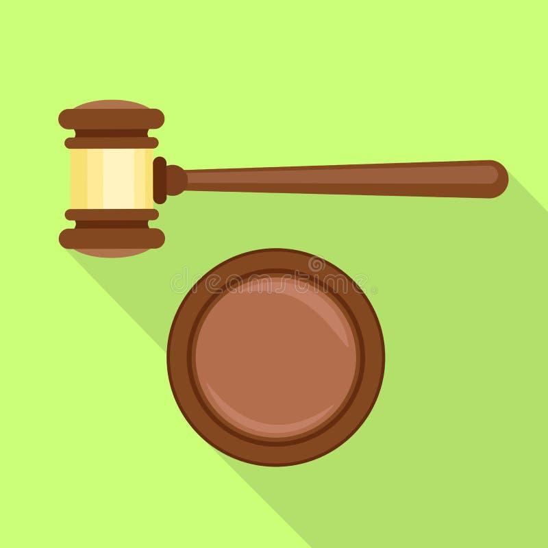 Icono de la decisión del mazo, estilo plano stock de ilustración
