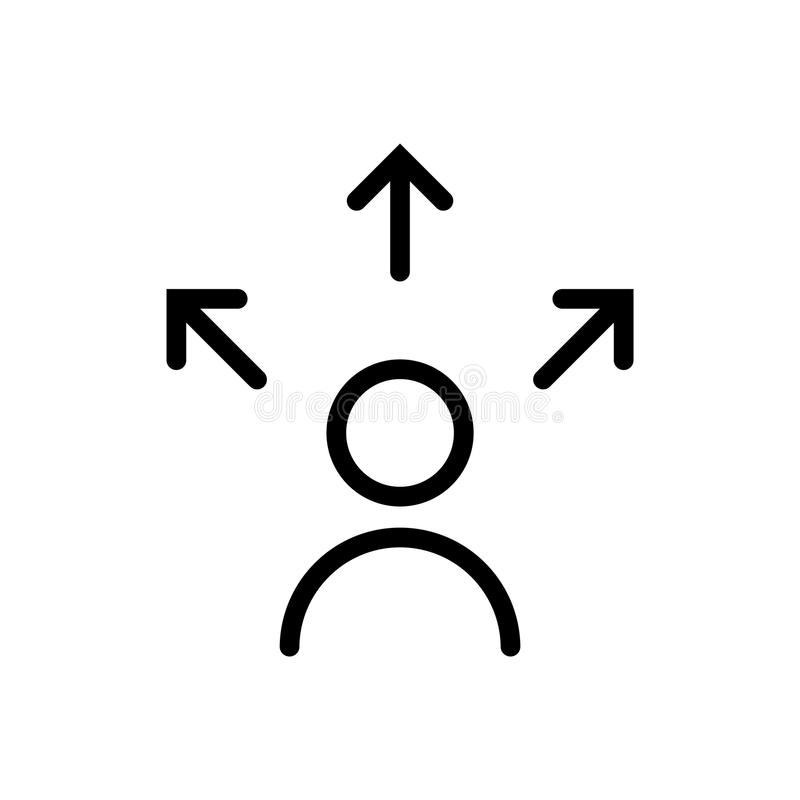 Icono de la decisión, ejemplo del vector libre illustration