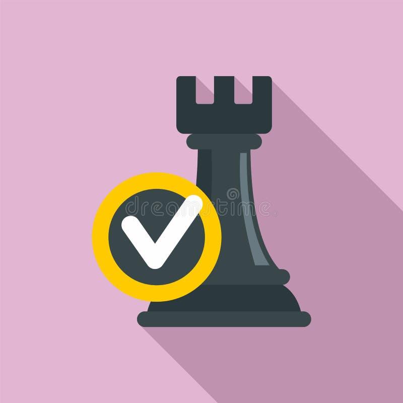 Icono de la decisión de lógica, estilo plano stock de ilustración