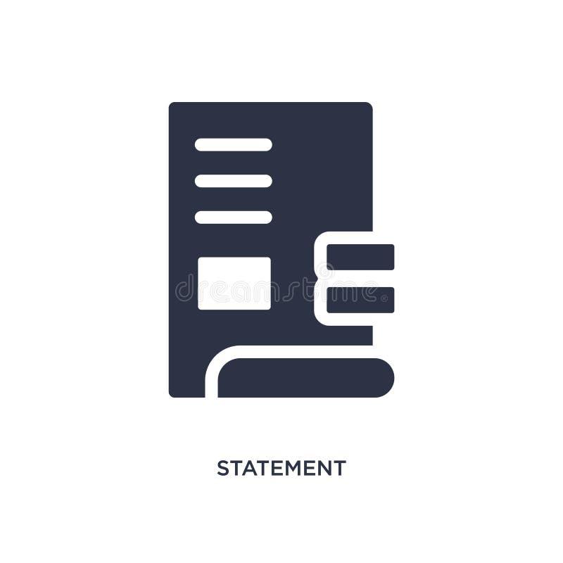 icono de la declaración en el fondo blanco Ejemplo simple del elemento del concepto de los éticas libre illustration