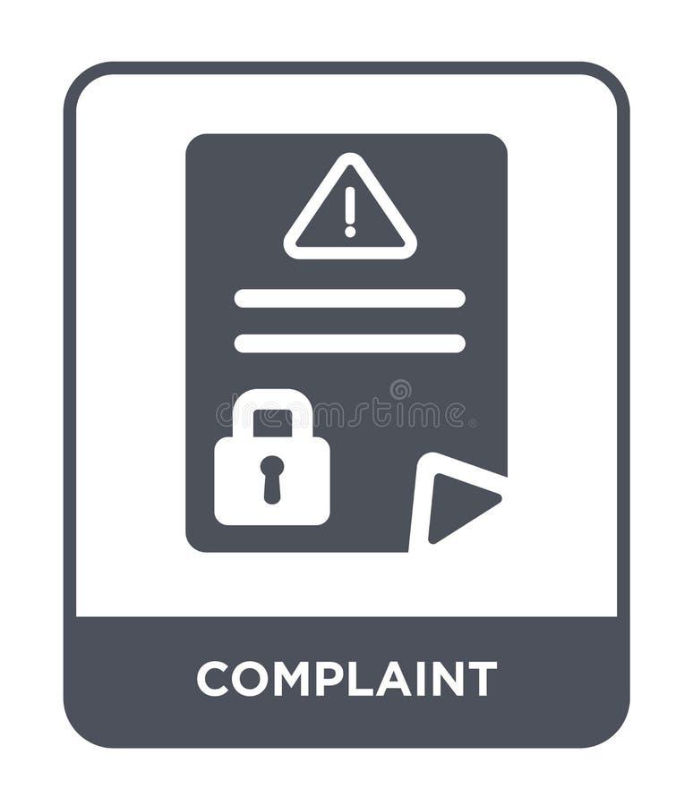 icono de la denuncia en estilo de moda del diseño icono de la denuncia aislado en el fondo blanco plano simple y moderno del icon libre illustration