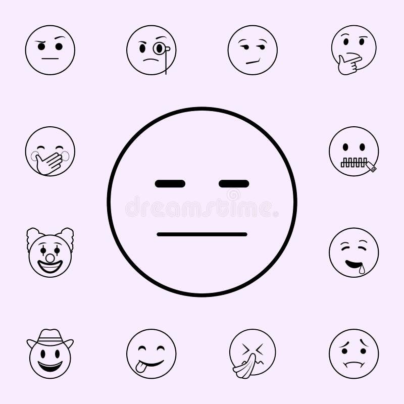 icono de la desconfianza Sistema universal de los iconos de Emoji para la web y el m?vil stock de ilustración