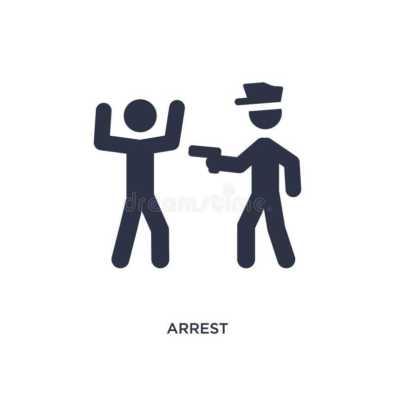 icono de la detención en el fondo blanco Ejemplo simple del elemento de la actividad y del concepto de las aficiones ilustración del vector