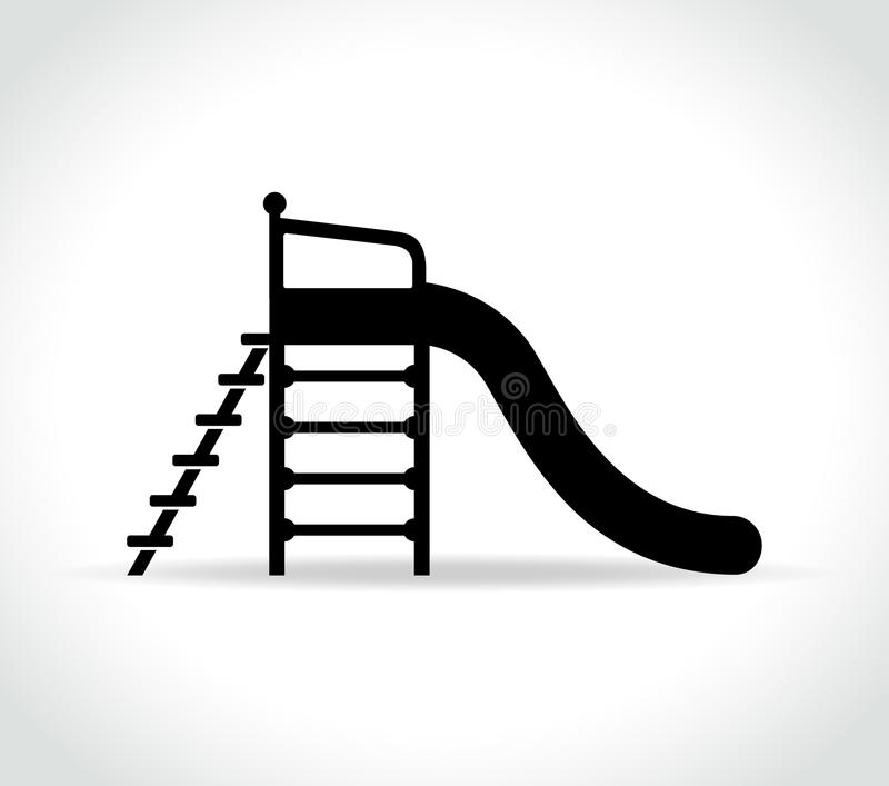 Icono de la diapositiva del ` s de los niños en el fondo blanco ilustración del vector