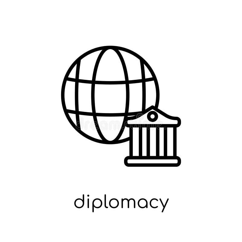 icono de la diplomacia Icono linear plano moderno de moda de la diplomacia del vector ilustración del vector