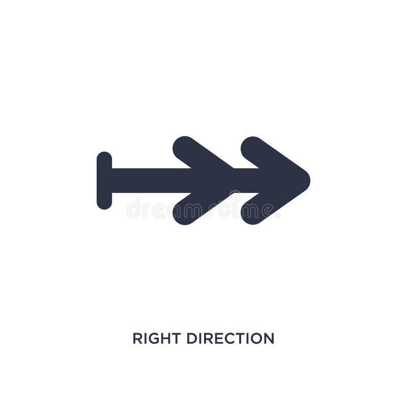 icono de la dirección correcta en el fondo blanco Ejemplo simple del elemento del concepto de las flechas ilustración del vector