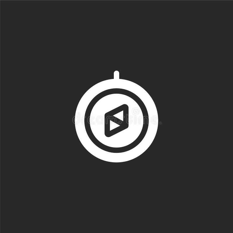 Icono de la direcci?n Icono llenado de la dirección para el diseño y el móvil, desarrollo de la página web del app icono de la di ilustración del vector
