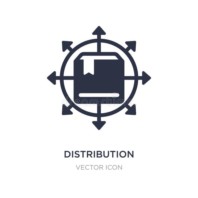 icono de la distribución en el fondo blanco Ejemplo simple del elemento del concepto de la economía de Digitaces libre illustration