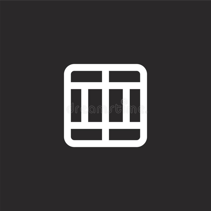 Icono de la divisoria Icono llenado de la divisoria para el diseño y el móvil, desarrollo de la página web del app el icono de la libre illustration