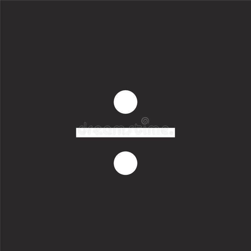 Icono de la divisoria Icono llenado de la divisoria para el diseño y el móvil, desarrollo de la página web del app icono de la di stock de ilustración