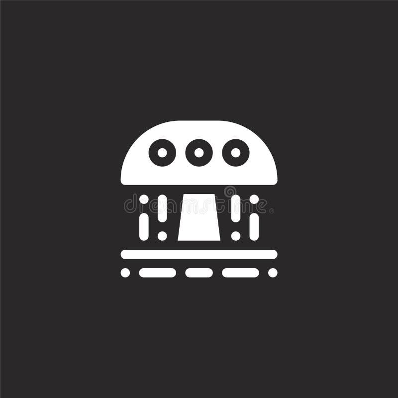 Icono de la ducha Icono llenado de la ducha para el diseño y el móvil, desarrollo de la página web del app icono de la ducha de l stock de ilustración