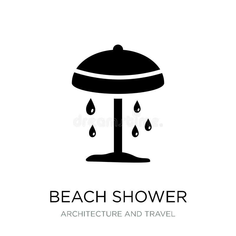 icono de la ducha de la playa en estilo de moda del diseño icono de la ducha de la playa aislado en el fondo blanco icono del vec stock de ilustración