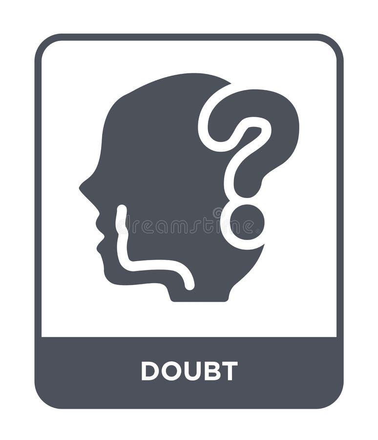 icono de la duda en estilo de moda del diseño icono de la duda aislado en el fondo blanco símbolo plano simple y moderno del icon ilustración del vector