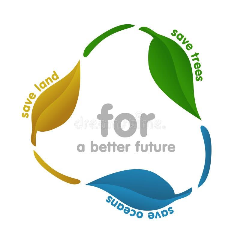 Icono de la ecología - reciclando ilustración del vector