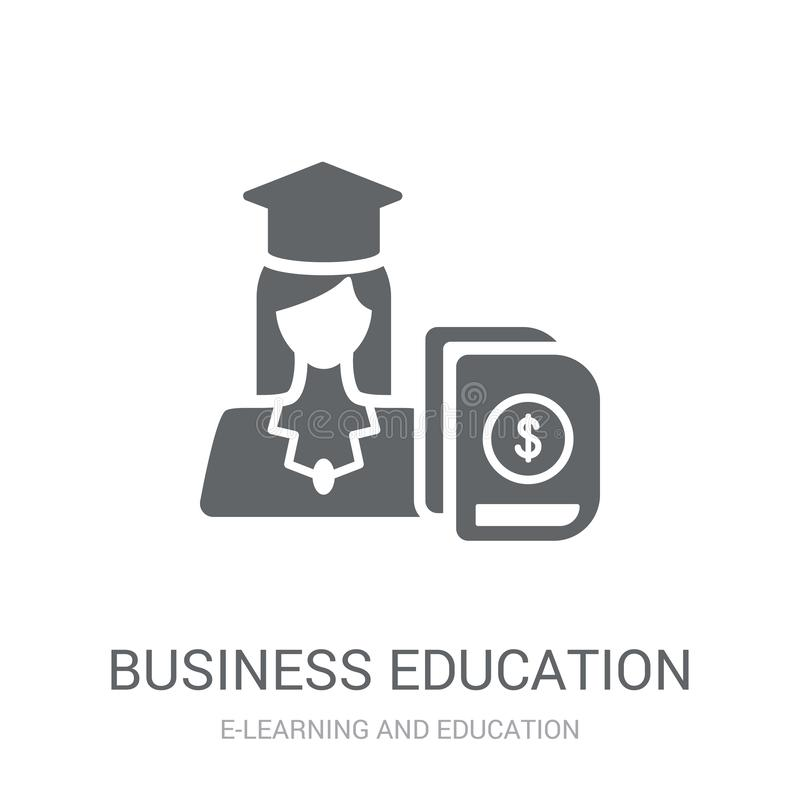 icono de la educación del negocio  stock de ilustración