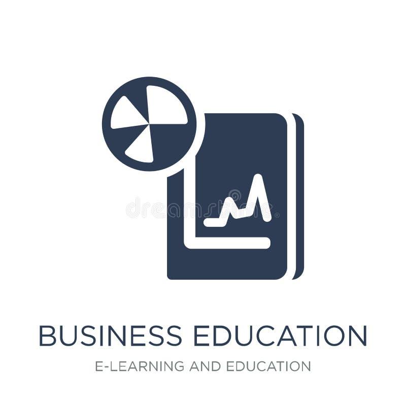icono de la educación del negocio Educación plana de moda i del negocio del vector ilustración del vector
