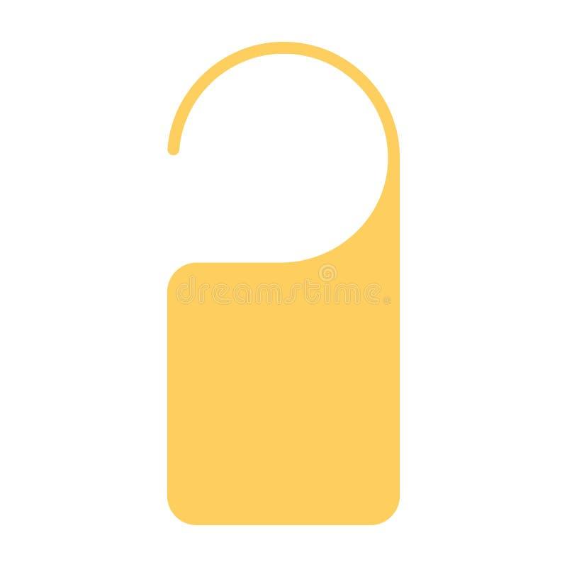 Icono de la ejecución de la etiqueta de la puerta Pictograma mínimo simple 96x96 del vector No disturbe la muestra libre illustration