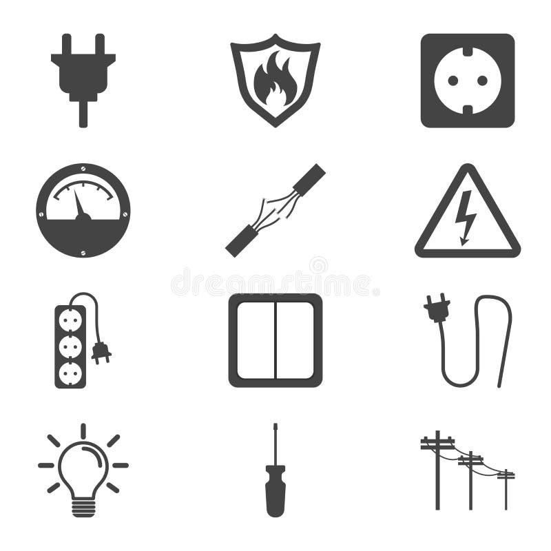Icono de la electricidad Vector el ejemplo en estilo plano en el CCB blanco libre illustration