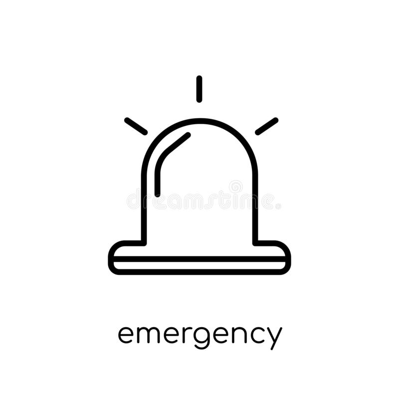 Icono de la emergencia Icono linear plano moderno de moda de la emergencia del vector stock de ilustración