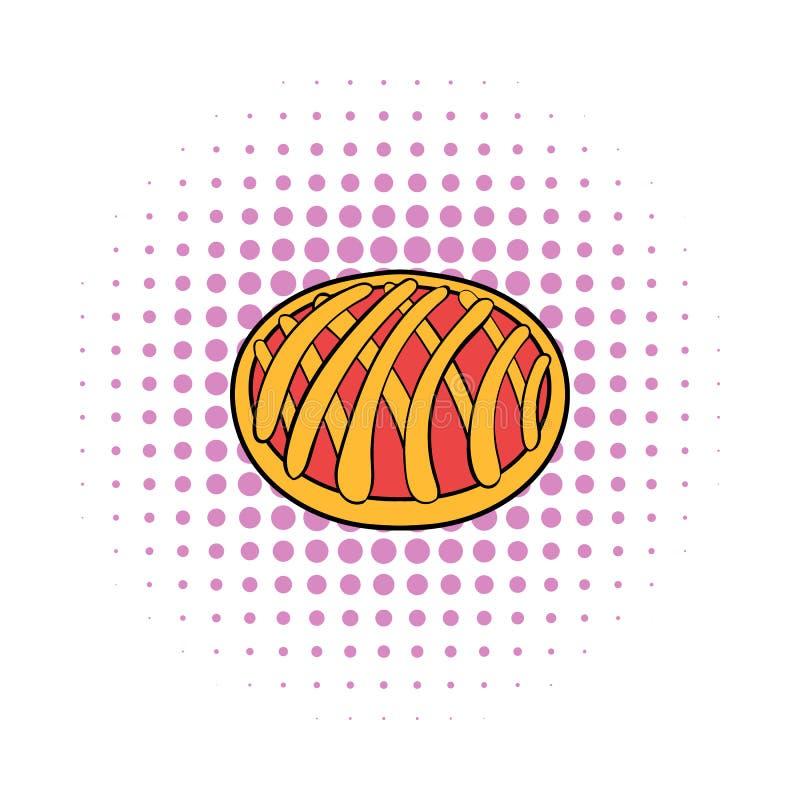 Icono de la empanada de la cereza, estilo de los tebeos libre illustration