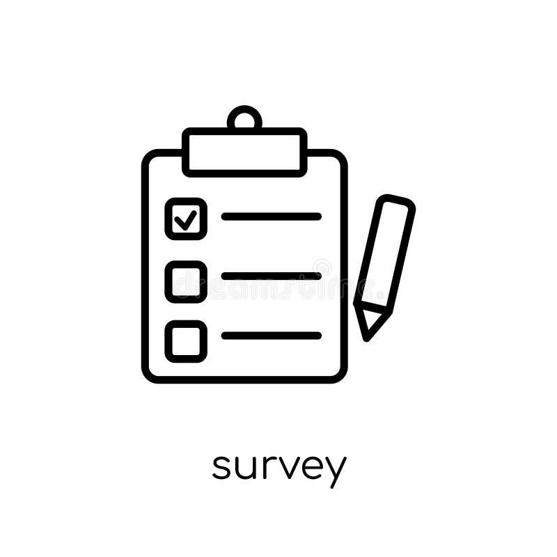 Icono de la encuesta de la colección ilustración del vector