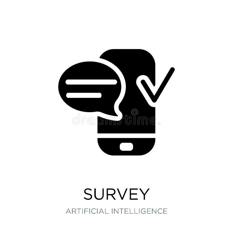 icono de la encuesta en estilo de moda del diseño icono de la encuesta aislado en el fondo blanco símbolo plano simple y moderno  ilustración del vector