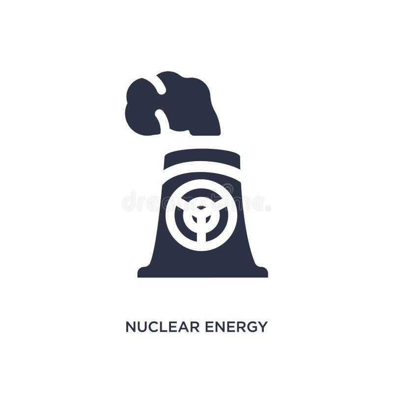 icono de la energía nuclear en el fondo blanco Ejemplo simple del elemento del concepto de la ecología ilustración del vector