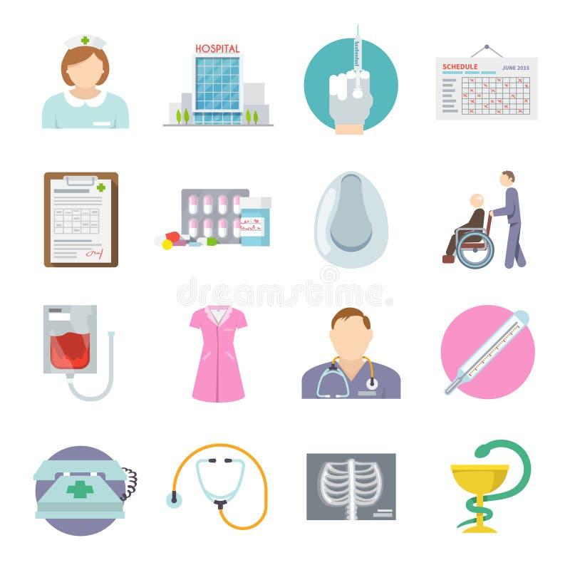 Icono de la enfermera plano libre illustration