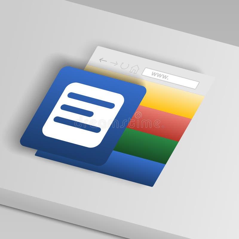 icono de la entrada De iconos del botón de la colección ilustración del vector