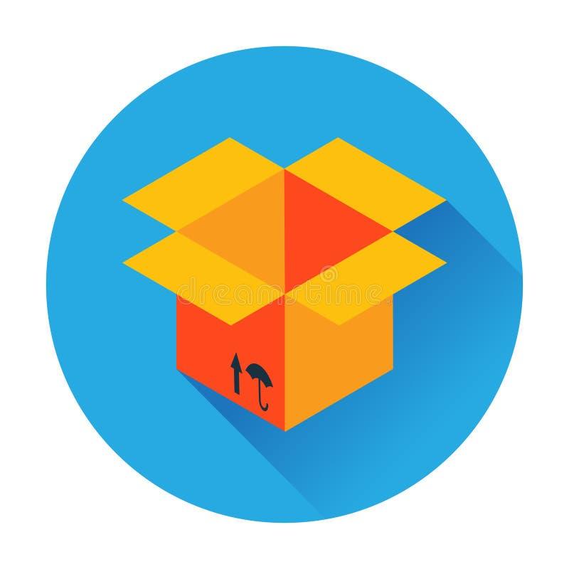 Icono de la entrega de la caja ilustración del vector