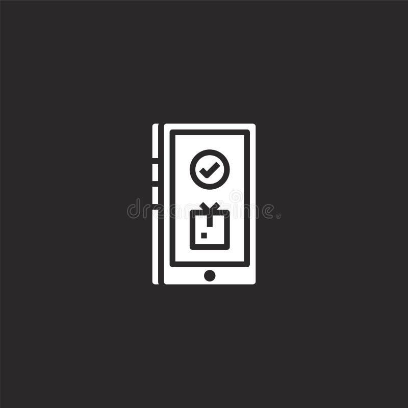 Icono de la entrega Icono llenado de la entrega para el diseño y el móvil, desarrollo de la página web del app icono de la entreg libre illustration