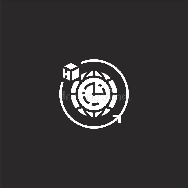 Icono de la entrega Icono llenado de la entrega para el diseño y el móvil, desarrollo de la página web del app icono de la entreg ilustración del vector