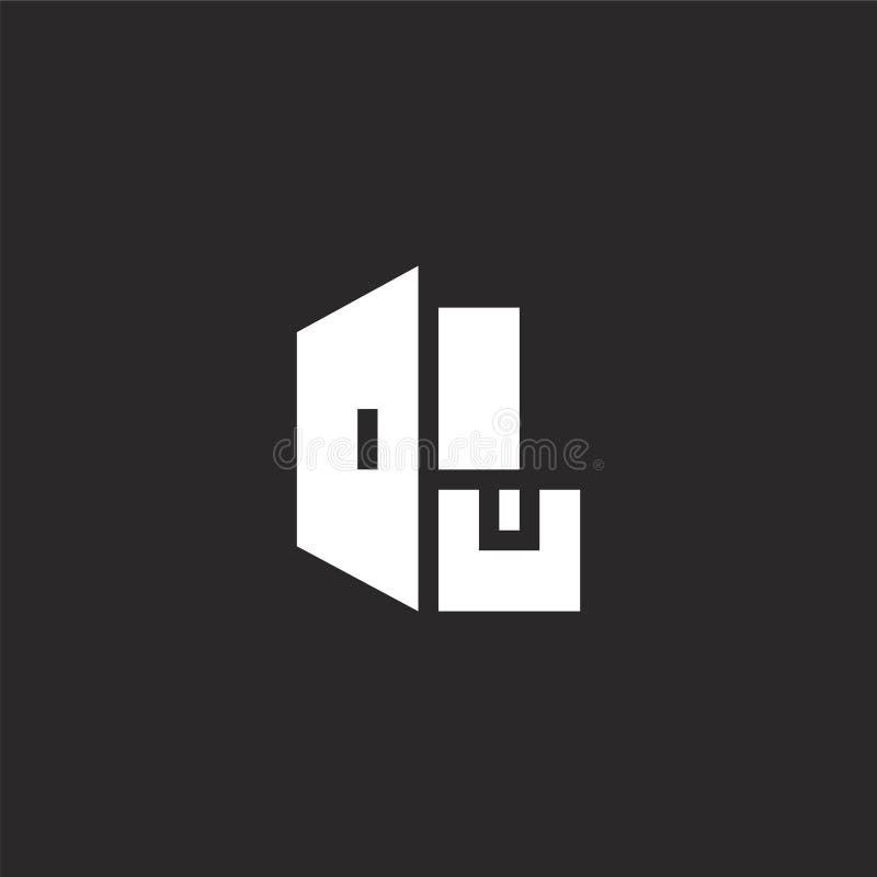Icono de la entrega Icono llenado de la entrega para el diseño y el móvil, desarrollo de la página web del app icono de la entreg stock de ilustración