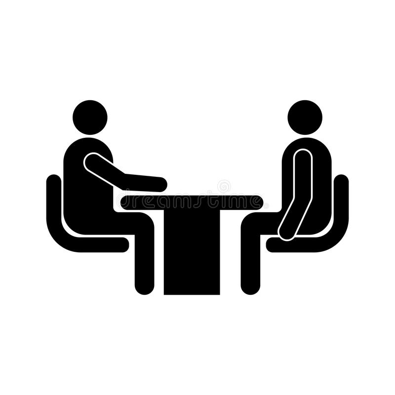 Icono de la entrevista de trabajo libre illustration