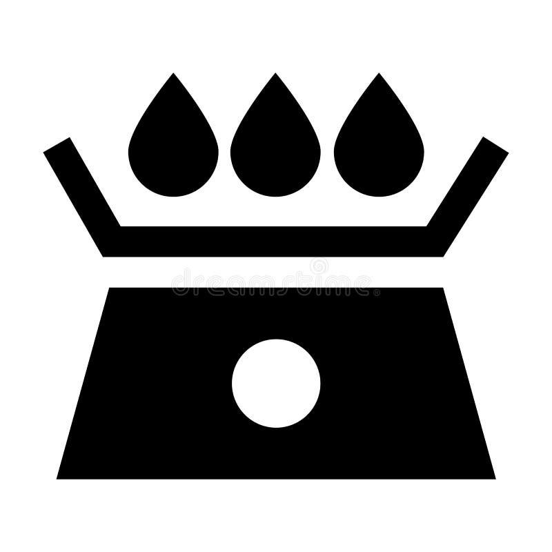 Icono de la escala del agua, estilo simple stock de ilustración