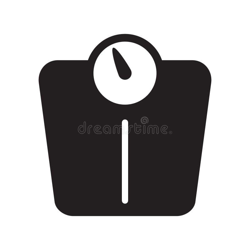 Icono de la escala del peso del cuarto de baño del vector libre illustration