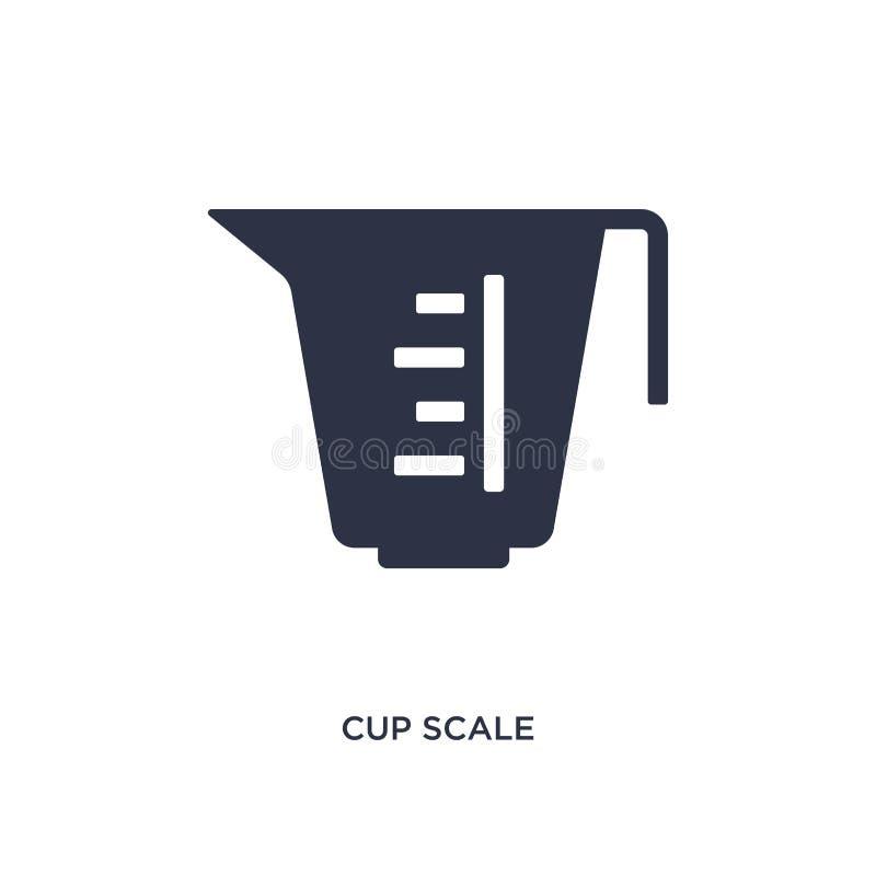 icono de la escala de la taza en el fondo blanco Ejemplo simple del elemento del concepto de la medida libre illustration