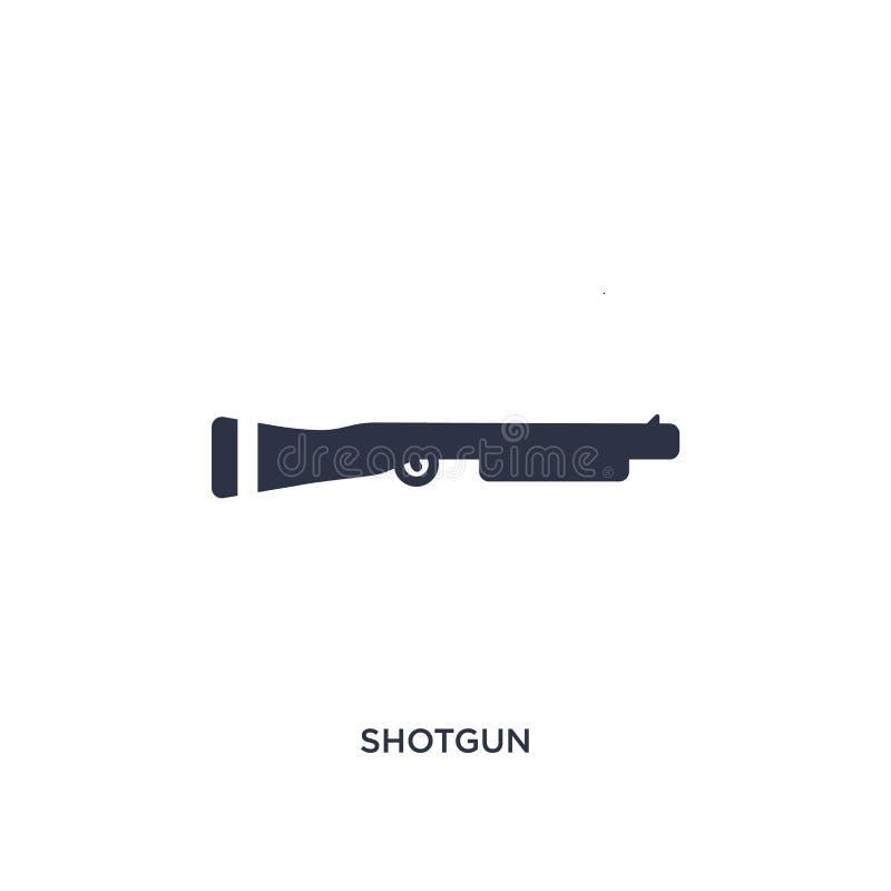 icono de la escopeta en el fondo blanco Ejemplo simple del elemento del concepto de la ley y de la justicia ilustración del vector