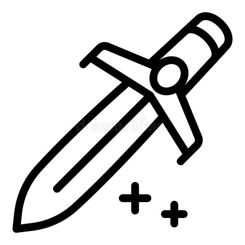 Icono de la espada del herrero, estilo del esquema libre illustration