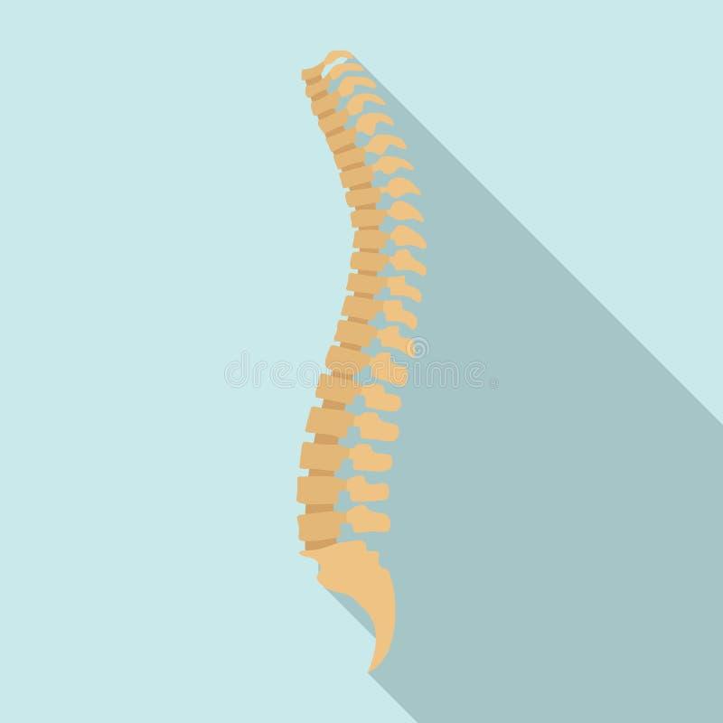 Icono de la espina dorsal, estilo plano stock de ilustración