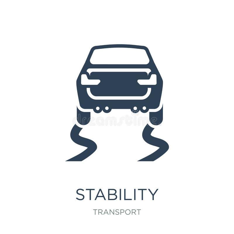 icono de la estabilidad en estilo de moda del diseño Icono de la estabilidad aislado en el fondo blanco plano simple y moderno de stock de ilustración