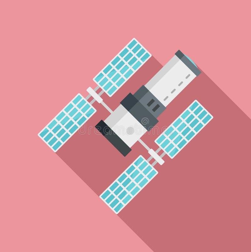 Icono de la estación espacial, estilo plano libre illustration