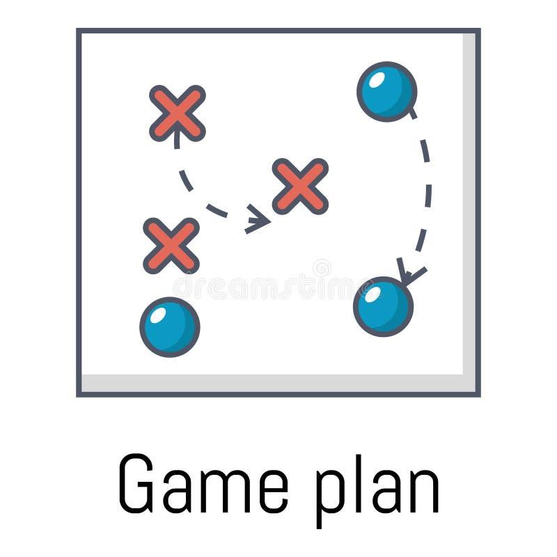 Icono de la estrategia, estilo de la historieta ilustración del vector